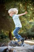 Boy jumping