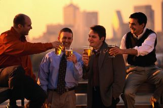 guys drinking beer